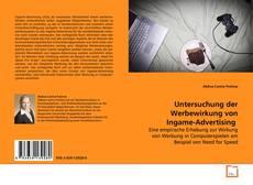 Capa do livro de Untersuchung der Werbewirkung von Ingame-Advertising
