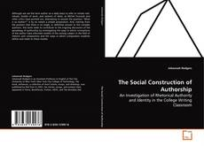 Capa do livro de The Social Construction of Authorship