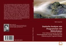 Portada del libro de Statische Analyse von Programmen mit Bibliotheken