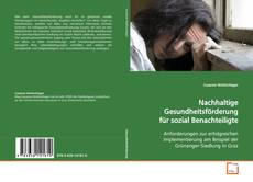 Bookcover of Nachhaltige Gesundheitsförderung für sozial Benachteiligte