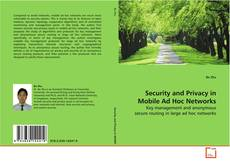 Bookcover of Security and Privacy in Mobile Ad Hoc Networks