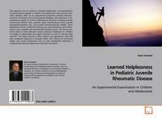 Buchcover von Learned Helplessness in Pediatric Juvenile Rheumatic Disease