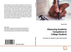 Buchcover von Measuring Academic Competence in College Students