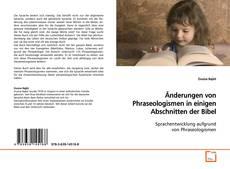 Обложка Änderungen von Phraseologismen in einigen Abschnitten der Bibel