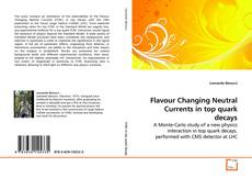Capa do livro de Flavour Changing Neutral Currents in top quark decays
