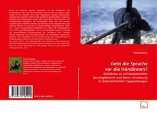 Capa do livro de Geht die Sprache vor die Hündinnen?