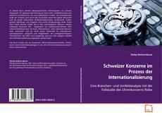 Portada del libro de Schweizer Konzerne im Prozess der Internationalisierung