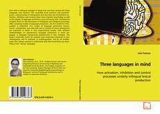 Обложка Three languages in mind