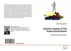 Couverture de Semantic Analysis of Thai Product Brand Names