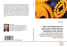 Portada del libro de How to implement Co-generation with District Heating in the South?