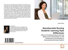 Baccalaureate Nursing Students' Learning Style Differences kitap kapağı