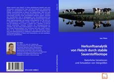 Bookcover of Herkunftsanalytik von Fleisch durch stabile Sauerstoffisotope