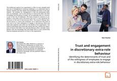 Buchcover von Trust and engagement in discretionary extra-role behaviour