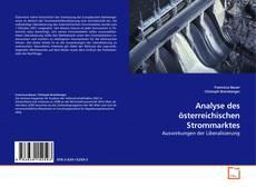 Bookcover of Analyse des österreichischen Strommarktes