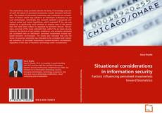 Capa do livro de Situational considerations in information security