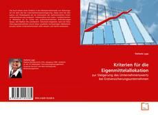 Kriterien für die Eigenmittelallokation kitap kapağı