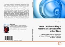 Portada del libro de Tenure Decision-Making at Research Universities in the United States