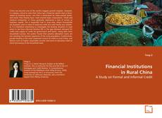 Buchcover von Financial Institutions in Rural China