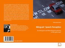 Copertina di Bilinguals' Speech Perception