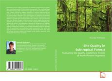 Обложка Site Quality in Subtropical Forests