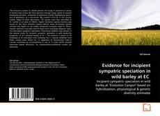 Portada del libro de Evidence for incipient sympatric speciation in wild barley at EC
