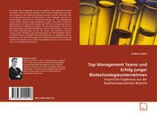 Buchcover von Top Management Teams und Erfolg junger Biotechnologieunternehmen