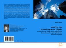 Analyse der Kriteriengruppe Objekt kitap kapağı