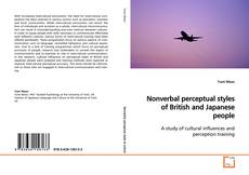 Buchcover von Nonverbal perceptual styles of British and Japanese people