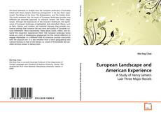 Bookcover of European Landscape and American Experience
