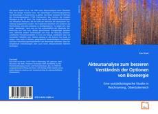 Akteursanalyse zum besseren Verständnis der Optionen von Bioenergie kitap kapağı