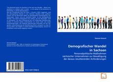 Capa do livro de Demografischer Wandel in Sachsen