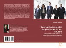 Couverture de Kommunikationspolitik der pharmazeutischen Industrie