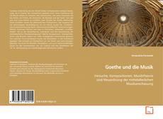 Portada del libro de Goethe und die Musik