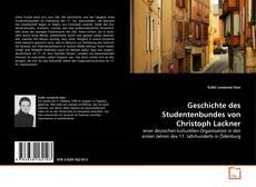 Portada del libro de Geschichte des Studentenbundes von Christoph Lackner
