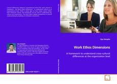 Bookcover of Work Ethos Dimensions
