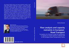 Capa do livro de Flow analysis and capacity restraints in European  Road Transport