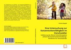 Buchcover von Eine Untersuchung zur Konzentrationsfähigkeit im Vorschulalter