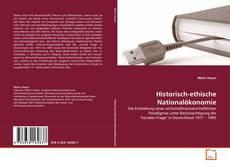 Capa do livro de Historisch-ethische Nationalökonomie