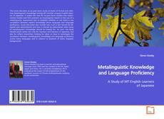 Copertina di Metalinguistic Knowledge and Language Proficiency