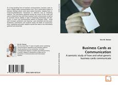 Buchcover von Business Cards as Communication
