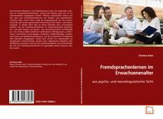 Bookcover of Fremdsprachenlernen im Erwachsenenalter