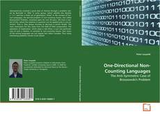 Buchcover von One-Directional Non-Counting Languages