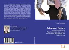 Bookcover of Behavioral Finance