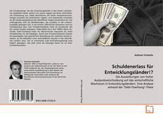 Schuldenerlass für Entwicklungsländer!? kitap kapağı