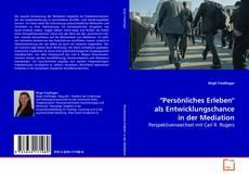 """Bookcover of """"Persönliches Erleben"""" als Entwicklungschance in der Mediation"""