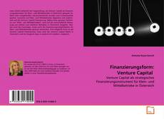 Bookcover of Finanzierungsform: Venture Capital