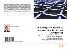 Capa do livro de Ich-Konzepte in deutschen Romanen aus den letzten Jahrzehnten