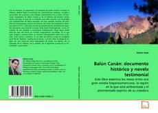Portada del libro de Balún Canán: documento histórico y novela testimonial