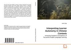 Обложка Interpreting Learner Autonomy in Chinese Contexts