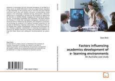 Couverture de Factors influencing academics development of e- learning environments